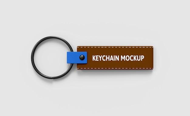 Leather keychain mockup Premium Psd