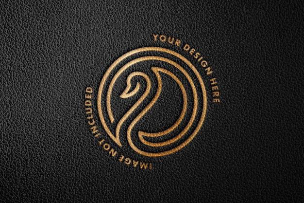 premium psd leather stamp logo mockup https www freepik com profile preagreement getstarted 10104324