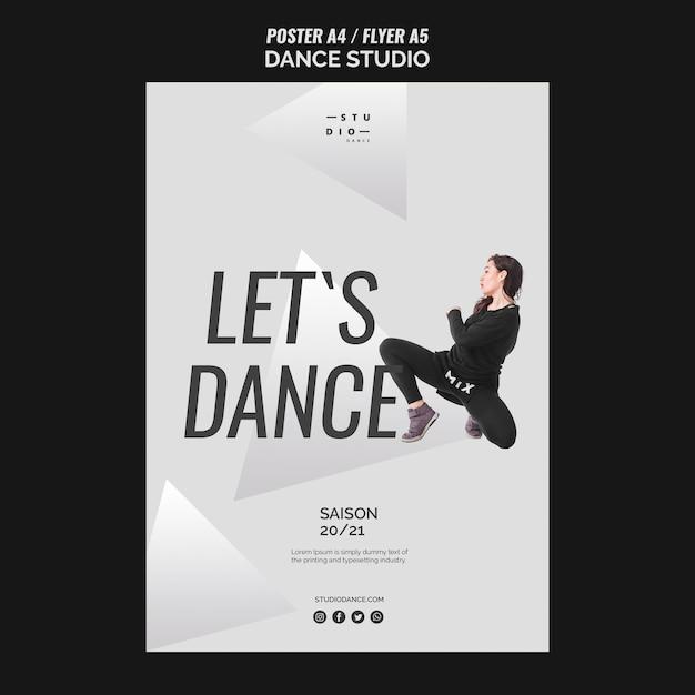 춤추는 스튜디오 댄스 포스터 템플릿 무료 PSD 파일