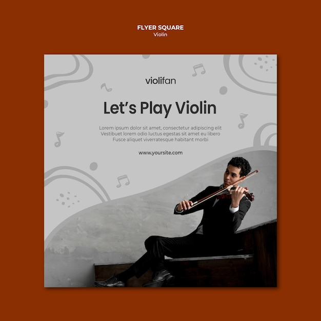 Let's Play Violin Square Flyer