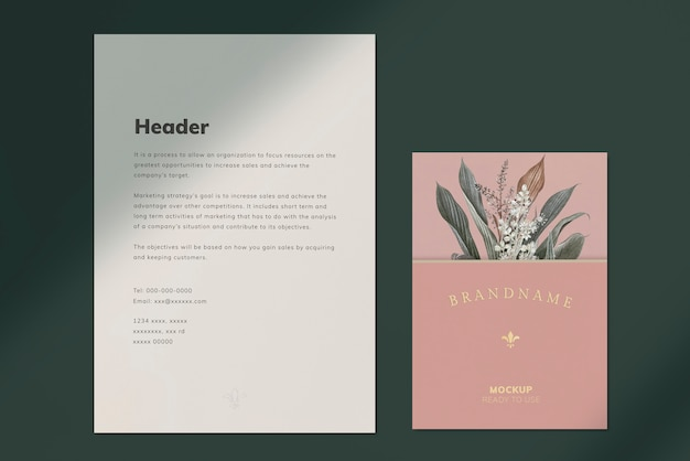 Letter template Free Psd