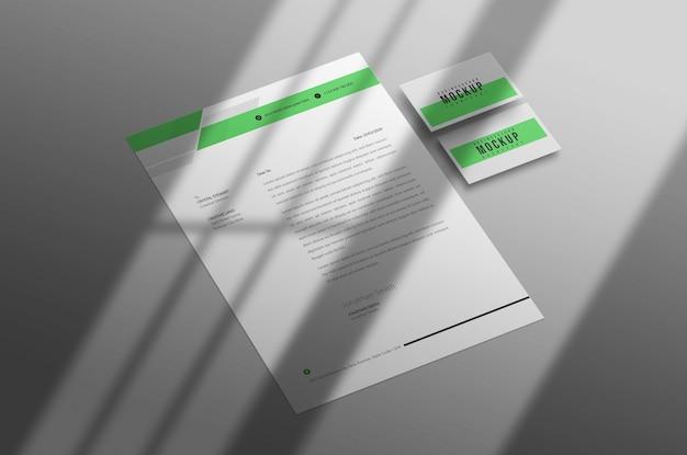 레터 헤드 및 명함 이랑 psd 무료 PSD 파일
