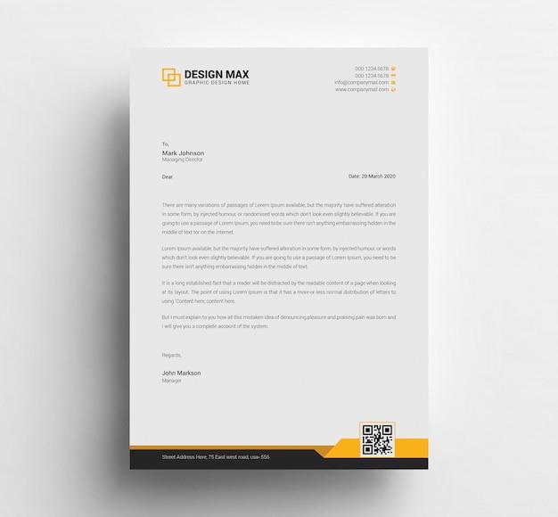 Letterhead template psd Premium Psd