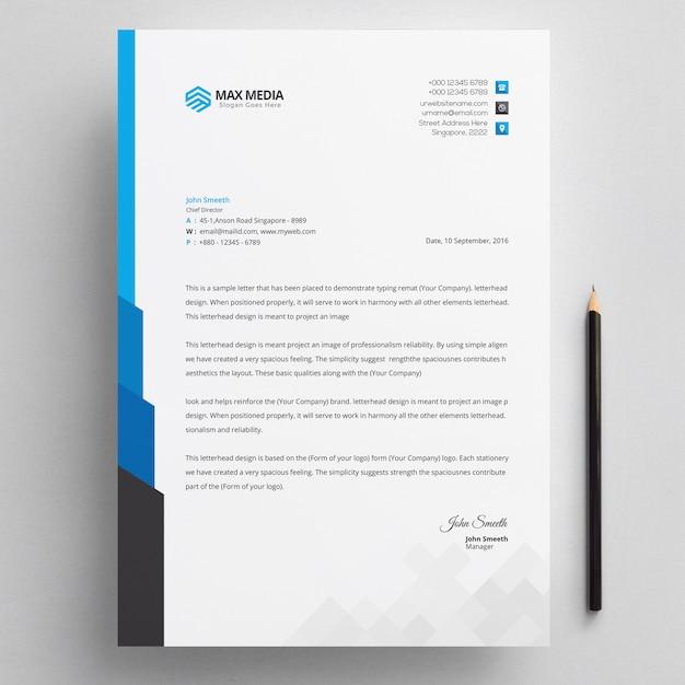 Letterhead template Premium Psd