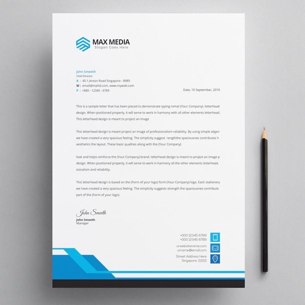 Psd Corporate Letterhead Template 000401: Business Card Vectors, Photos And PSD Files