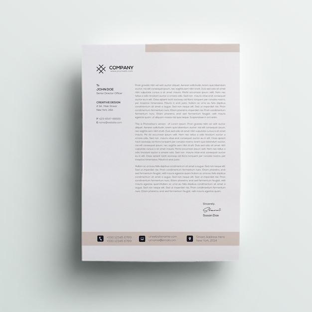 レターヘッドテンプレート Premium Psd