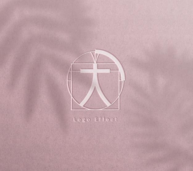 Макет логотипа высокой печати Бесплатные Psd