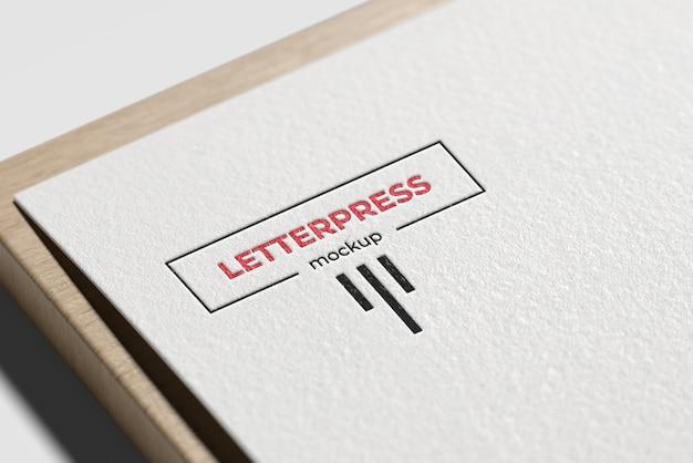 Letterpress logo mockup Premium Psd