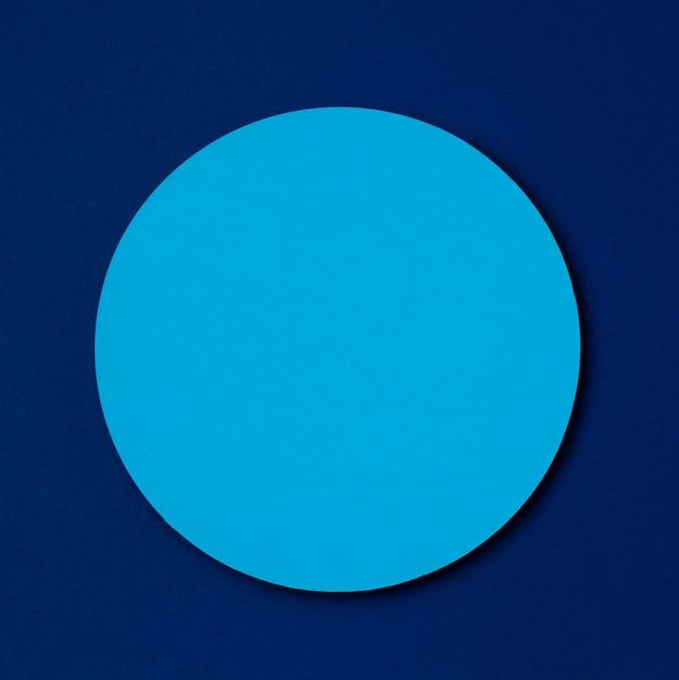 暗い青色の背景に水色のモックアップサークル 無料 Psd