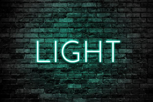 Light effect over brick wall Premium Psd