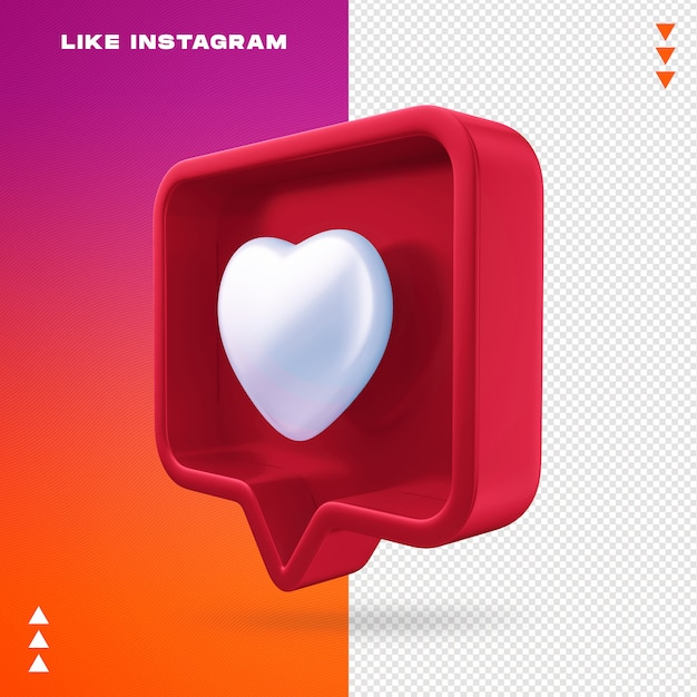 Like instagram isolated Premium Psd