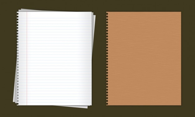 Lined paper notebook in PSD PSD file – Notebook Paper Download