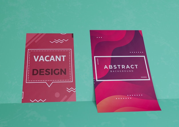 Liquid effect on brand company business mock-up paper Free Psd