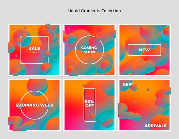 Collezione liquid gradient Psd Gratuite