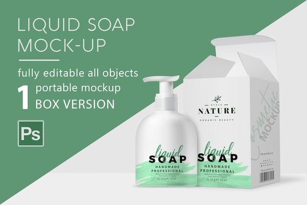 Мокап жидкого мыла Premium Psd