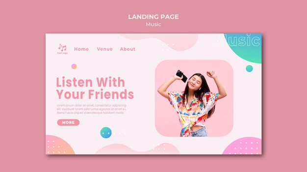 Lister with your friends landing page Free Psd