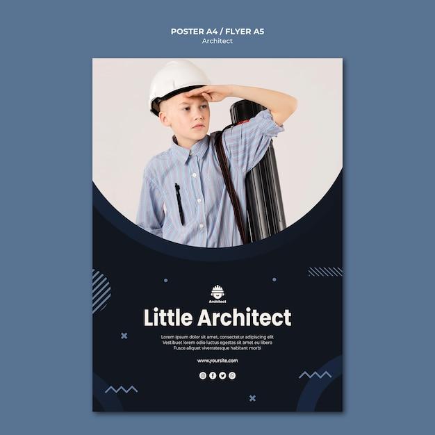 작은 건축가 포스터 디자인 무료 PSD 파일