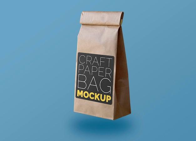 ブラックラベルモックアップ付きリトルクラフト紙袋 無料 Psd