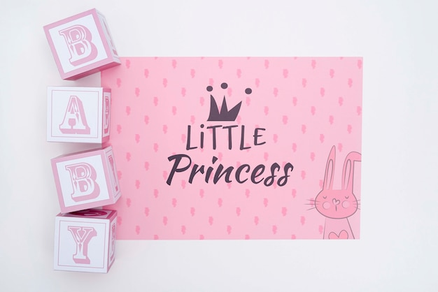 Little princess baby shower decorations Free Psd