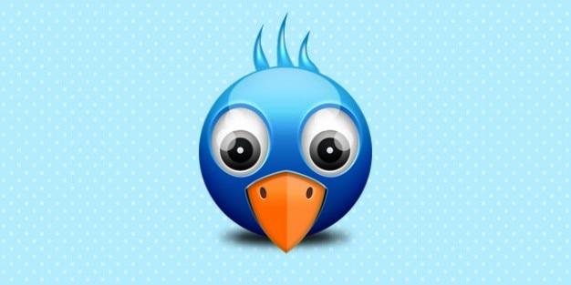 Little twitter birdie icon Free Psd