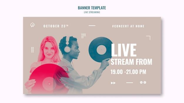 Banner di streaming di musica dal vivo Psd Gratuite
