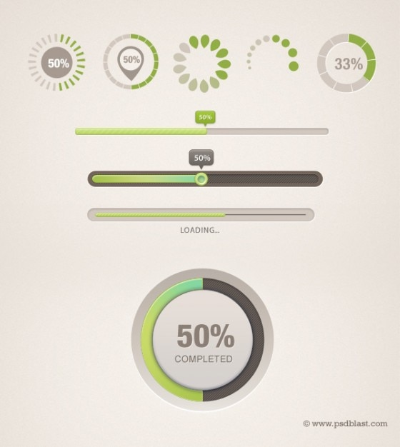 Loading progress bar icon layered psd Free Psd