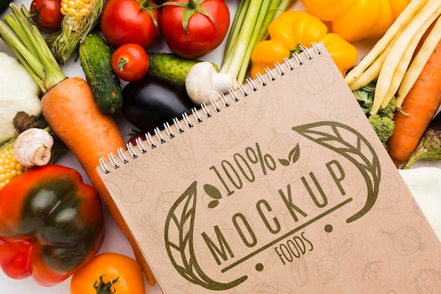 Locally grown veggies mock-up Free Psd
