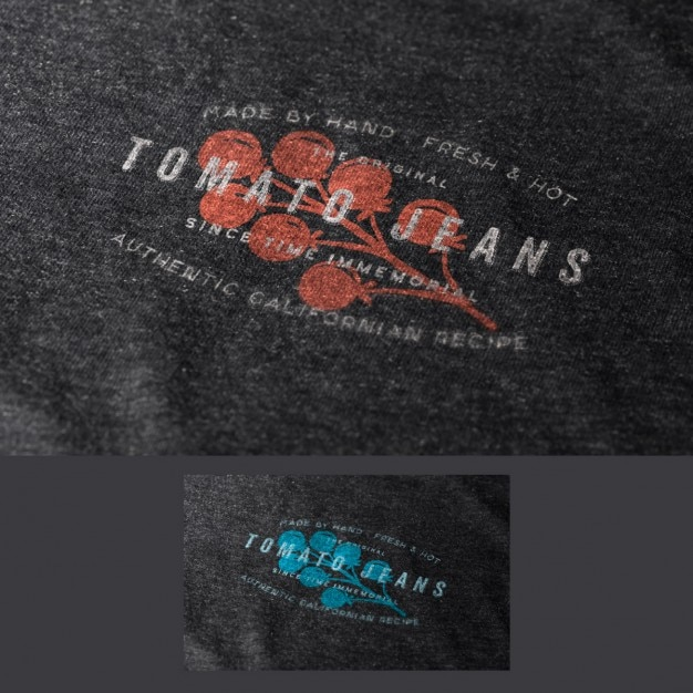 Logo in fabric mock up Free Psd