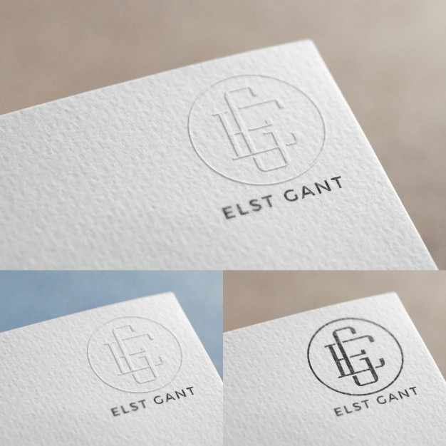 logo in paper mock up psd file free download