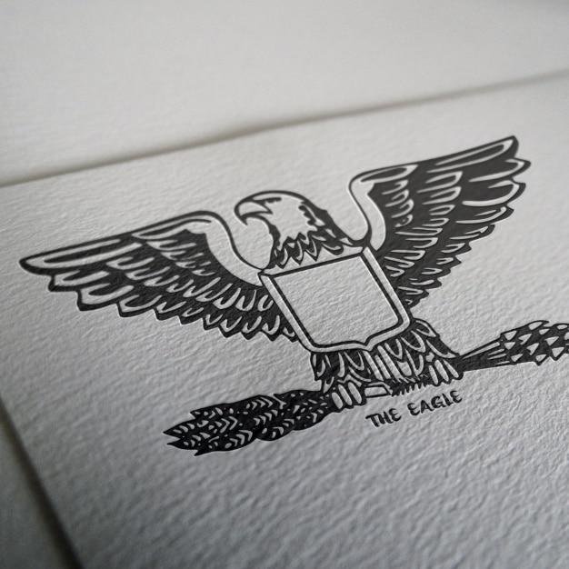 Logo mock up design Free Psd