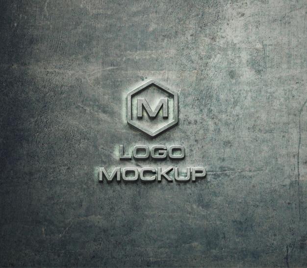 Logo mock up on stone background Free Psd