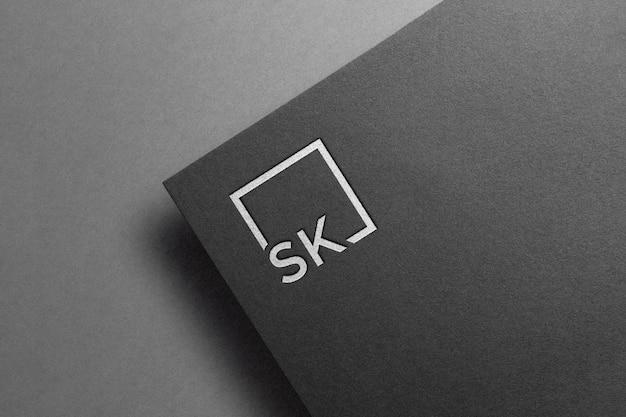 ロゴモックアップブラックペーパー Premium Psd