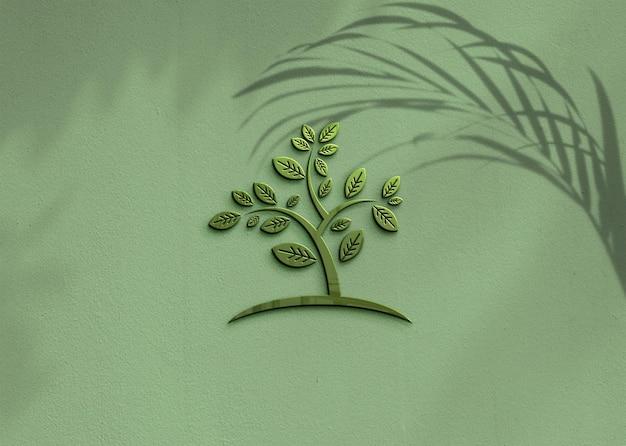 Дизайн макета логотипа для бизнеса с наложением тени Premium Psd