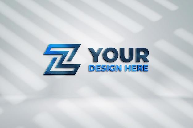 3dレンダリングのロゴモックアップデザイン Premium Psd