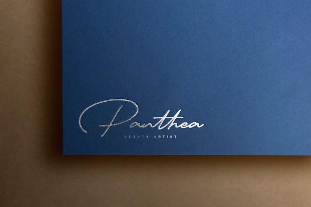 로고 모형 고급 종이 프리미엄 PSD 파일