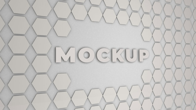 Logo mockup office wall 3d premium Premium Psd