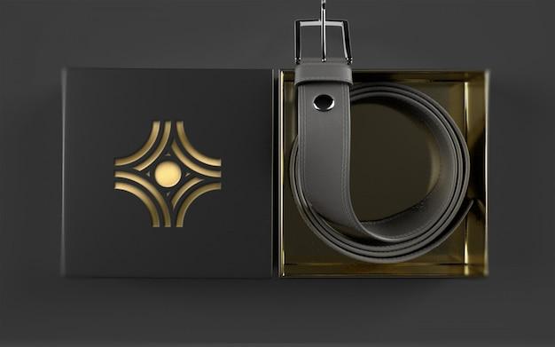 Пакет с логотипом на кожаном ремне Premium Psd
