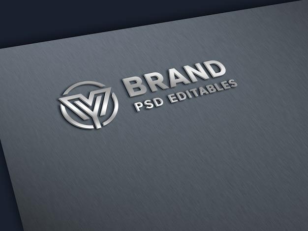 종이에 로고 모형 프리미엄 PSD 파일