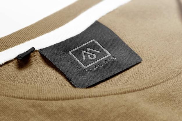 Logo mockup sweater label tag Premium Psd