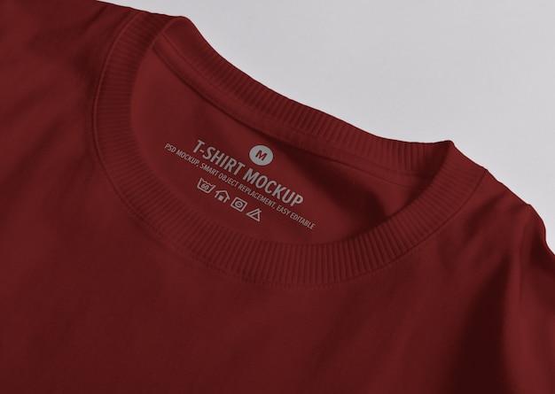 로고 모형 티셔츠 넥 라벨 프리미엄 PSD 파일