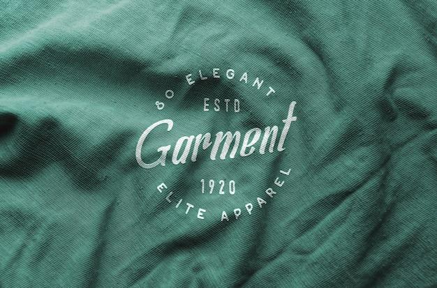 Logo mockup wrinkled cloth Premium Psd