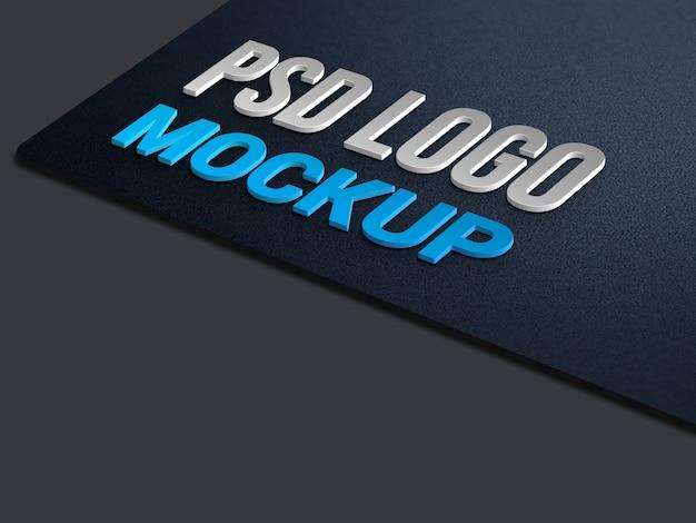 로고 모형 프리미엄 PSD 파일