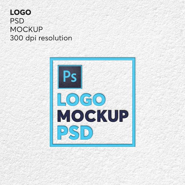 ロゴpsdモックアップ Premium Psd