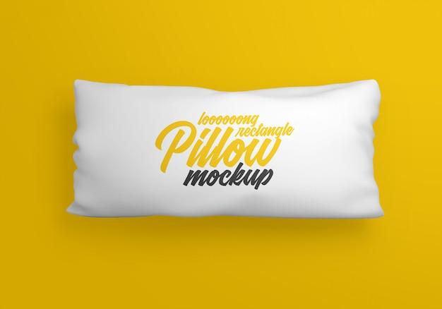 Длинная прямоугольная подушка макет Premium Psd