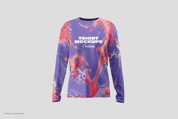 긴 소매 티셔츠 모형 프리미엄 PSD 파일