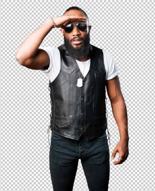 Looking black man Premium Psd