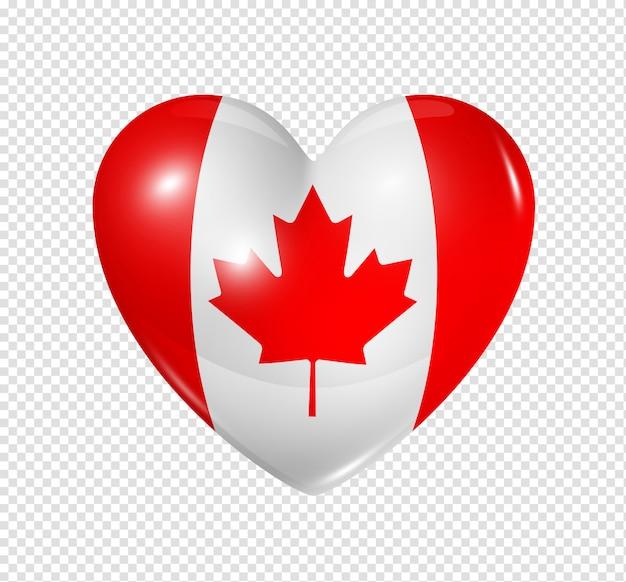 Love canada, heart flag icon Premium Psd