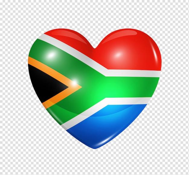Love south africa, heart flag icon Premium Psd