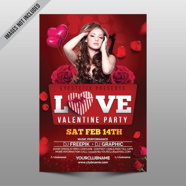 Love valentine party Premium Psd