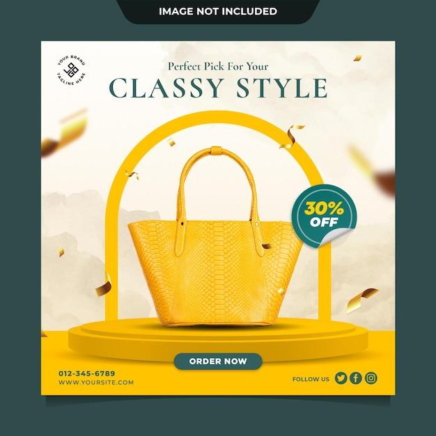 Luxury bag fashion sale instagram post template